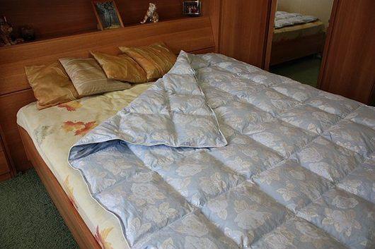 Текстиль, ковры ручной работы. Ярмарка Мастеров - ручная работа. Купить Одеяло пуховое. Handmade. Одеяло, пух, перо, тик