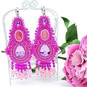 Украшения handmade. Livemaster - original item Large pink earrings fuchsia