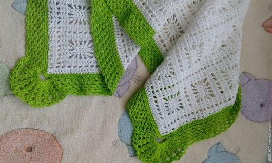 Пледы и одеяла ручной работы. Ярмарка Мастеров - ручная работа. Купить Плед летний. Handmade. Белый, новорожденному, малышу, крючком