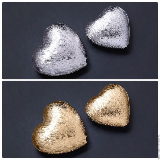 Для украшений ручной работы. Ярмарка Мастеров - ручная работа. Купить Бусина сердце (2 размера). Handmade. Комбинированный