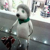 Куклы и игрушки ручной работы. Ярмарка Мастеров - ручная работа Ёж с зонтиком. Handmade.