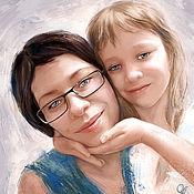 Иллюстрации, рисунки ручной работы. Ярмарка Мастеров - ручная работа Парный портрет. Handmade.