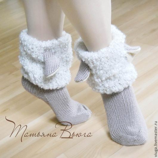 Купить Овечка. Носки вязаные, шерстяные носки. Вязаные ...