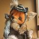 Мишки Тедди ручной работы. Ярмарка Мастеров - ручная работа. Купить Лиса Алиса. Handmade. Рыжий, лисица, плюшевая игрушка