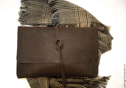 Женские сумки ручной работы. Ярмарка Мастеров - ручная работа. Купить Клатч. Handmade. Коричневый, клатч из натуральной кожи, стильный