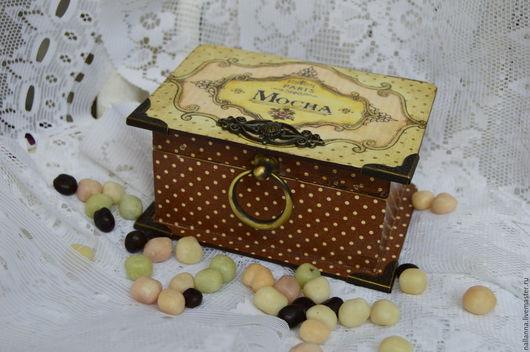 Шкатулки ручной работы. Ярмарка Мастеров - ручная работа. Купить Шкатулка Шоколад. Handmade. Коричневый, шоколадный цвет, подарок