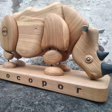 Для дома и интерьера ручной работы. Ярмарка Мастеров - ручная работа Носорог из дерева. Handmade.