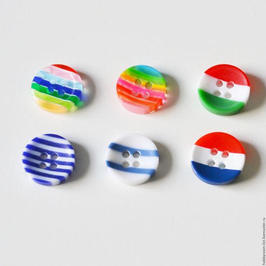 Шитье ручной работы. Ярмарка Мастеров - ручная работа. Купить Пуговицы круглые. Mix. 13 мм. Handmade. Комбинированный, пуговицы