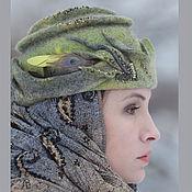 Аксессуары ручной работы. Ярмарка Мастеров - ручная работа Фантазийная шляпка-пилотка Ш_15019. Handmade.