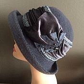 Аксессуары manualidades. Livemaster - hecho a mano Sombrero gris con cortinas de terciopelo. Handmade.