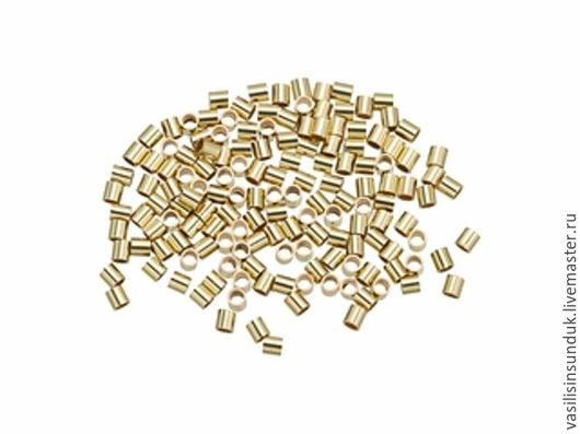 Для украшений ручной работы. Ярмарка Мастеров - ручная работа. Купить Кримпы позолоченные/посеребренные 1,5 мм 10 шт. Handmade.