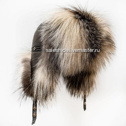 Шапки ручной работы. Ярмарка Мастеров - ручная работа. Купить Мужская меховая шапка из лисы чернобурки Smoky Fox. Handmade.