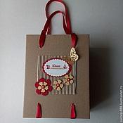 Сувениры и подарки ручной работы. Ярмарка Мастеров - ручная работа Коробка-пакет 20х15х10 см из МГК - подарочная упаковка. Handmade.