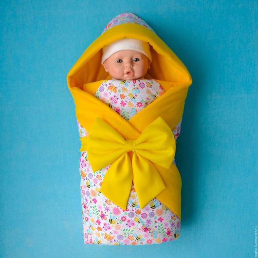 Для новорожденных, ручной работы. Ярмарка Мастеров - ручная работа. Купить Одеяло для малыша. Handmade. Рисунок, подарок будущей маме