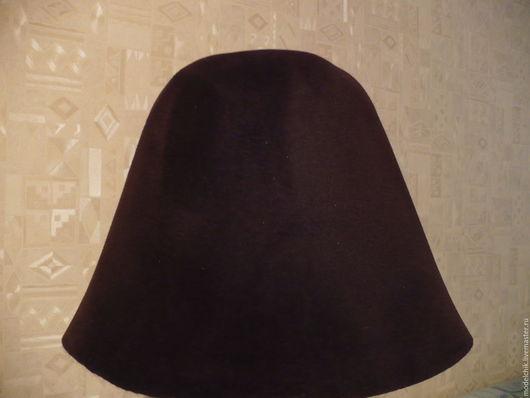 Другие виды рукоделия ручной работы. Ярмарка Мастеров - ручная работа. Купить Коричневый велюр шляпный. Handmade. Велюр шляпный