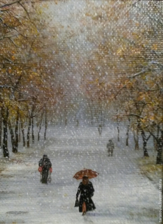 Copyright the painting First snow, Pictures, Moscow,  Фото №1