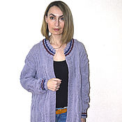 """Одежда ручной работы. Ярмарка Мастеров - ручная работа Кардиган-пальто """"Косы"""". Handmade."""