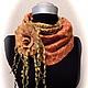 """Шарфы и шарфики ручной работы. Ярмарка Мастеров - ручная работа. Купить снуд """"Солнечный """". Handmade. Оранжевый, шерсть"""