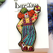 """Украшения ручной работы. Ярмарка Мастеров - ручная работа Брошь    """" Клоун"""" ручная вышивка .. Handmade."""