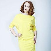 Одежда ручной работы. Ярмарка Мастеров - ручная работа Платье Ромб с рукавами желтое. Handmade.