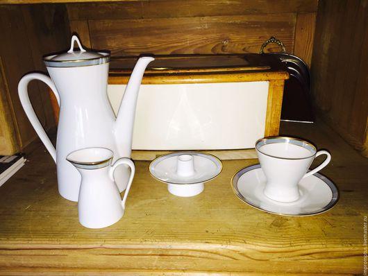 Винтажная посуда. Ярмарка Мастеров - ручная работа. Купить Винтажный кофейный набор фирмы Rosenthal 7 чашечек. Handmade. Голубой