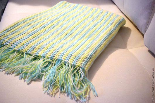"""Текстиль, ковры ручной работы. Ярмарка Мастеров - ручная работа. Купить Плед вязаный """"Апрель"""". Handmade. Комбинированный, детский плед"""