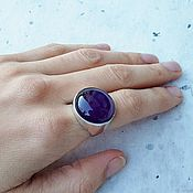 Rings handmade. Livemaster - original item Ring with purple amethyst. Handmade.