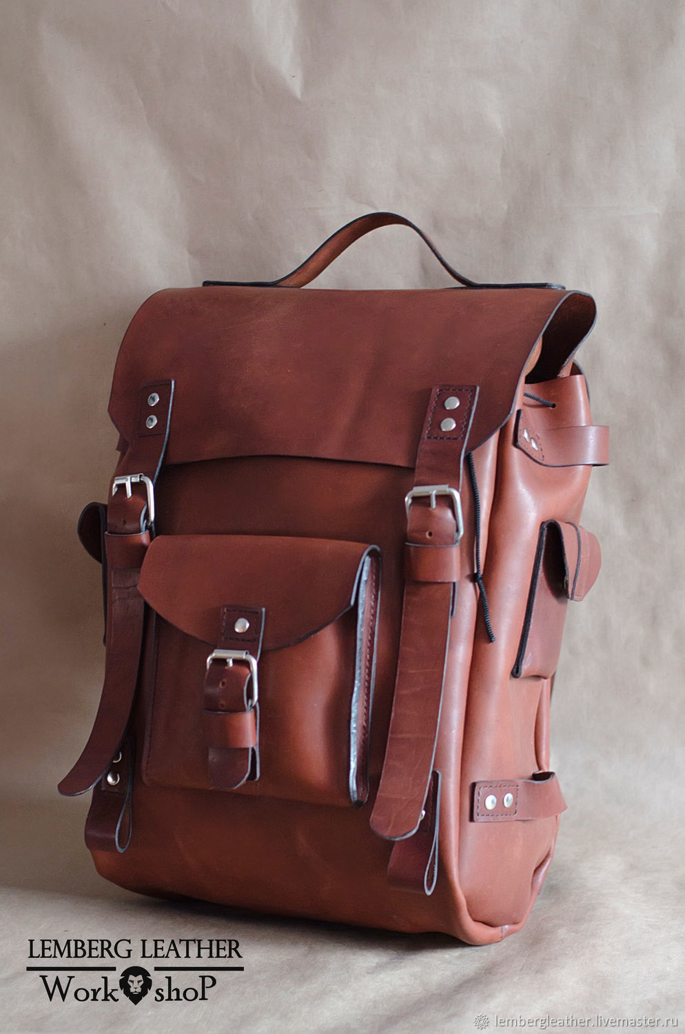 Leather Hiking backpack, backpack leather, buy, Backpacks, Moscow,  Фото №1