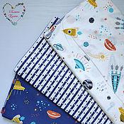 Материалы для творчества handmade. Livemaster - original item Fabrics China satin cotton Moscow space rocket. Handmade.