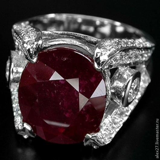 Кольцо рубин сапфир циркон 17,3 серебро 925