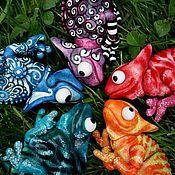 Куклы и игрушки ручной работы. Ярмарка Мастеров - ручная работа Фарфоровые хамелеоны. Handmade.