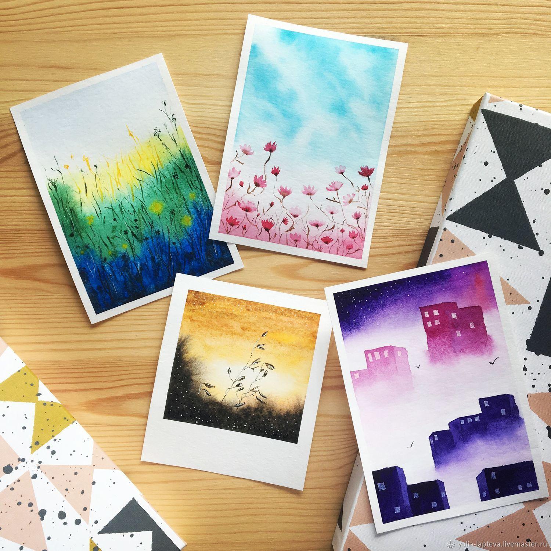 Картинки акварелью открытки