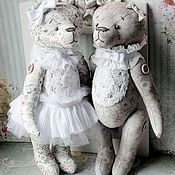 """Куклы и игрушки ручной работы. Ярмарка Мастеров - ручная работа Мишки """"Сладкая парочка"""". Handmade."""