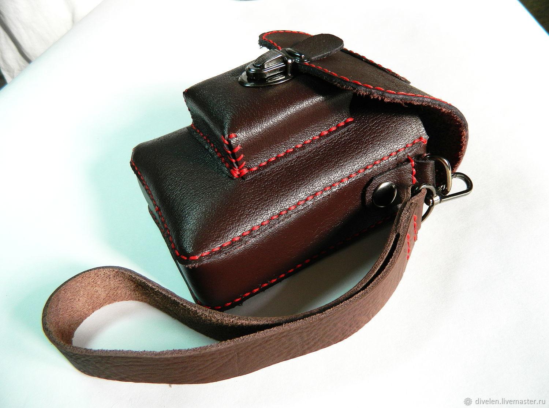 84b1255fa4f3 ССОБОЙКА-4 (красная нить) Кожаная сумка на ремень.Ручная прошивка ...