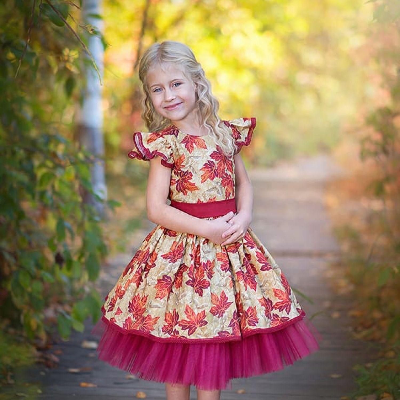 """Платье """"Кленовые листья""""2, Одежда, Новосибирск, Фото №1"""