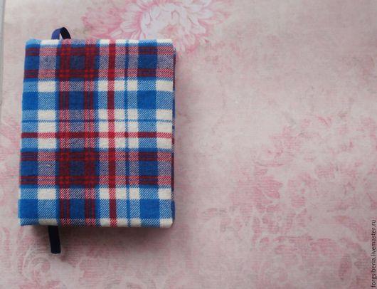 Блокноты ручной работы. Ярмарка Мастеров - ручная работа. Купить Синий скетчбук/блокнот в клетку. Handmade. Ярко-красный, синий