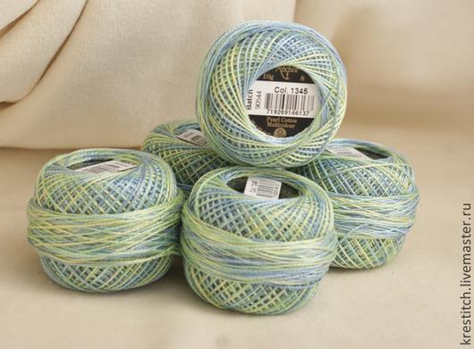 Вышивка ручной работы. Ярмарка Мастеров - ручная работа. Купить Anchor Pearl Cotton №8 Multicolor нити для вышивания. Handmade.