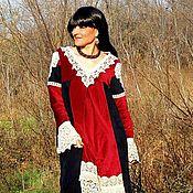 Одежда ручной работы. Ярмарка Мастеров - ручная работа БОХО платье с вышивкой (№193). Handmade.