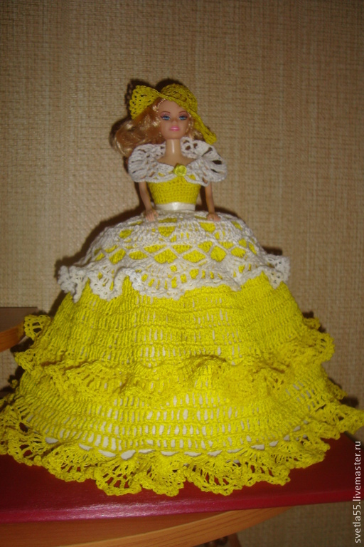 Кухня ручной работы. Ярмарка Мастеров - ручная работа. Купить Кукла-грелка на чайник. Handmade. Желтый, голубой цвет