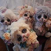 Куклы и игрушки ручной работы. Ярмарка Мастеров - ручная работа Пушистики-глазастики. Handmade.