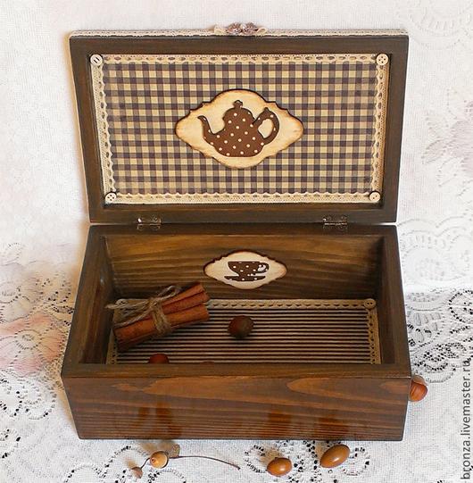 """Корзины, коробы ручной работы. Ярмарка Мастеров - ручная работа. Купить Короб для хранения """"В гости к бабушке"""". Handmade. подарок"""