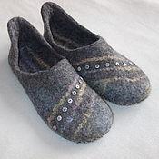 """Обувь ручной работы. Ярмарка Мастеров - ручная работа Тапочки """"Пуговки"""". Handmade."""