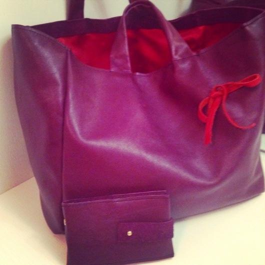 Женские сумки ручной работы. Ярмарка Мастеров - ручная работа. Купить Фиолетовая кожаная сумка. Handmade. Сумка ручной работы