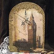 Для дома и интерьера ручной работы. Ярмарка Мастеров - ручная работа Часы настенные декупаж Лондон. Handmade.