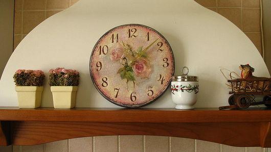 Часы для дома ручной работы. Ярмарка Мастеров - ручная работа. Купить Часики настенные Розовая Мечта ( 22 см ). Handmade.