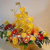 Цветы и флористика ручной работы. Ярмарка Мастеров - ручная работа Корабль из цветов. Handmade.