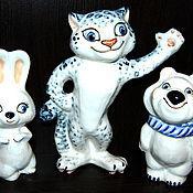 Для дома и интерьера handmade. Livemaster - original item Hare,Snow leopard and polar bear. Handmade.