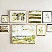 """Картины и панно ручной работы. Ярмарка Мастеров - ручная работа Коллекция картин """"Green"""". Handmade."""