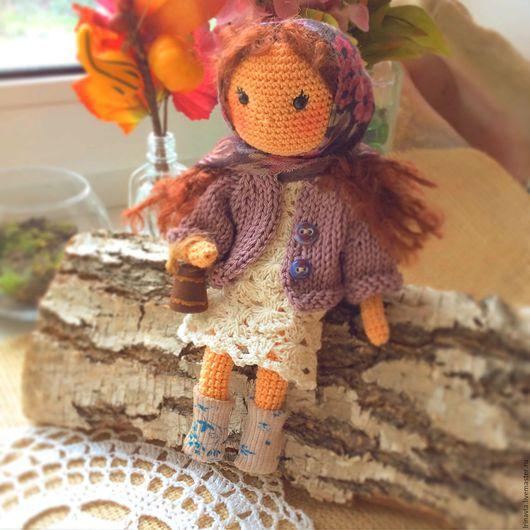 Человечки ручной работы. Ярмарка Мастеров - ручная работа. Купить Марфушка, вязаная куколка. Handmade. Кукла крючком, деревенский стиль