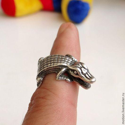 Кольца ручной работы. Ярмарка Мастеров - ручная работа. Купить Серебряное Кольцо Аллигатор, Крокодил Серебро 925 пробы. Handmade.